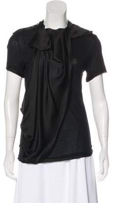 Lanvin Short Sleeve Draped Top