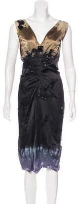 Prada Silk Dip-Dyed Dress