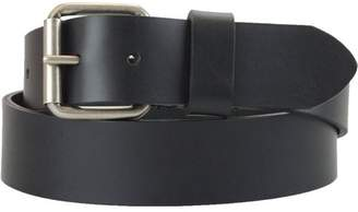 Montauk Leather Club 1-1/2 in. US Steer Hide Harness Leather Men's Belt w/ Antq. Nickel Roller Buckle