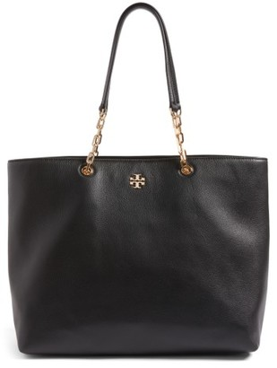Tory Burch Frida Pebbled Leather Tote - Black $528 thestylecure.com
