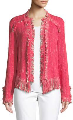 Nic+Zoe Petite Fancy Fringed Jacket