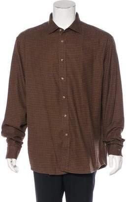 Ralph Lauren Purple Label Houndstooth Woven Shirt