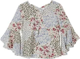 Amy Byer Iz Girls 7-16 IZ Bell Sleeve Top with Necklace
