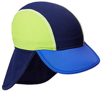 John Lewis Children's Colour Block Keppi Sun Hat, Blue/Yellow