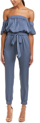 Milly Maxime Silk-Blend Jumpsuit