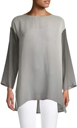 Eileen Fisher Watercolour Silk Sheer Tunic