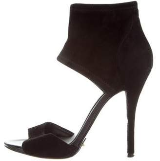 Brian Atwood Suede Multistrap Sandals