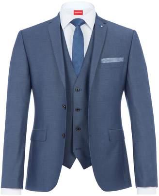 Lambretta Men's Peckham Textured Slim Three Piece Suit