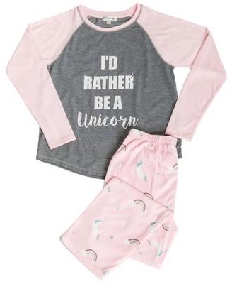 PJ Salvage Kids Pajama Set One of a Kind Unicorn PINK Large Size 6