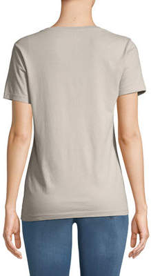 Three Dots V-Neck Short Sleeve Tee