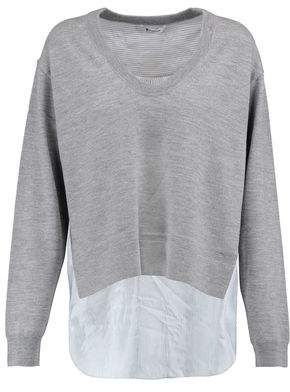 Alexander Wang Paneled Merino Wool Sweater