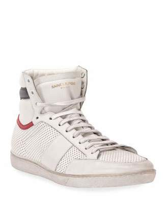 Saint Laurent Men's Leather High-Top Sneaker