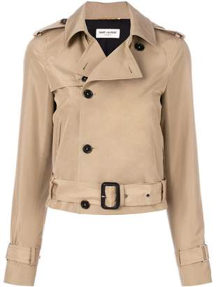 Saint Laurent cropped trench jacket