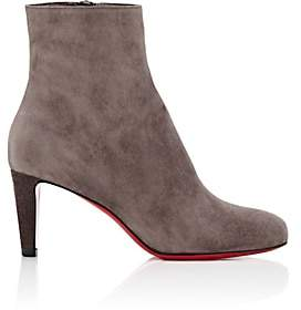 Christian Louboutin Women's Top Suede Ankle Boots - Gray