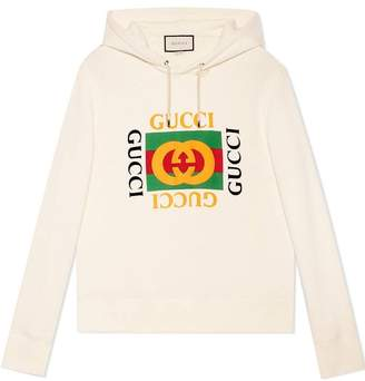 Gucci Print hooded sweatshirt