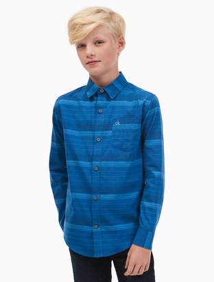 Calvin Klein boys horizontal stripe shirt