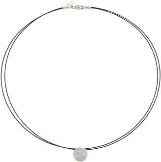 Alor Noir Diamond Pave Pendant Necklace
