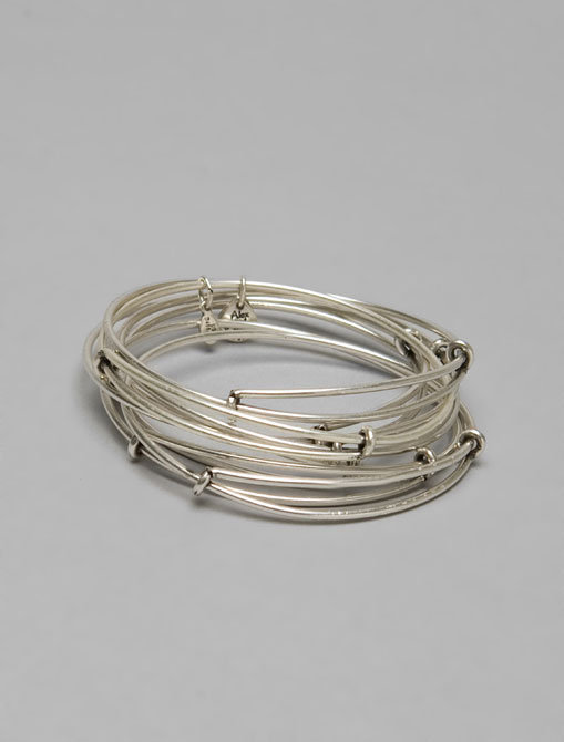 Alex and Ani Only Silver Expandable Bangles