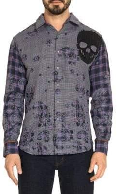 Robert Graham Paisley Plaid-Print Shirt