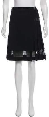 Burberry Wool Knee-Length Skirt
