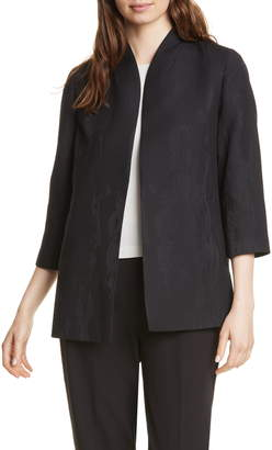 Eileen Fisher Long Patterned Pique Jacket