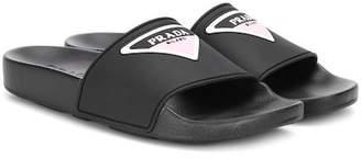Prada Logo rubber slides