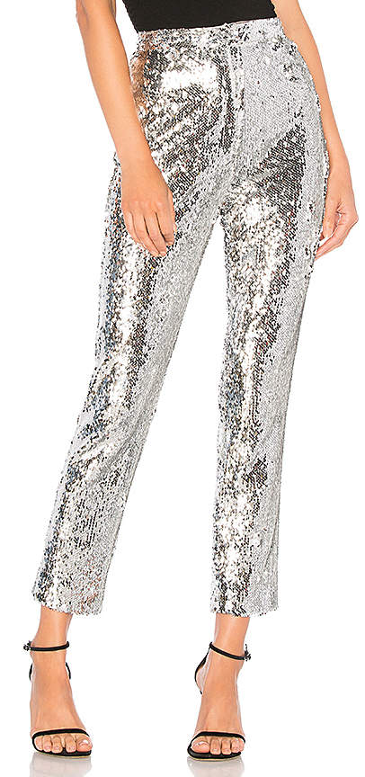 MILLY Sequins High Waist Skinny Pant