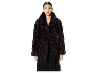 The Kooples Fake Fur with Monochrome Boucle