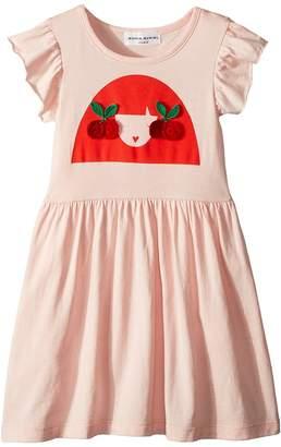 Sonia Rykiel Kids Ayal Dress w/ Cherry Rykiel Girl Design on Front Girl's Dress