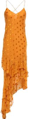 Mason by Michelle Mason Asymmetric Fil Coupe Silk-blend Midi Slip Dress