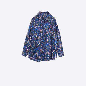 Balenciaga Printed silk blouse with scarf