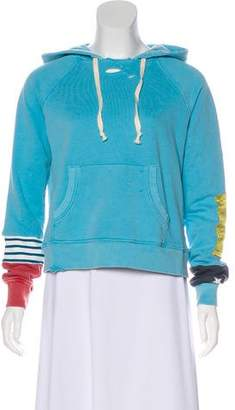Pam & Gela Distressed Hooded Sweatshirt