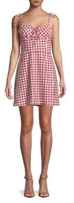 WAYF Gingham Mini Dress