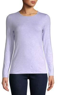 Lord & Taylor Long-Sleeve Iconic Fit Crew Neck Tee
