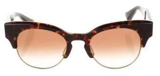 Dita Tortoiseshell Round Sunglasses