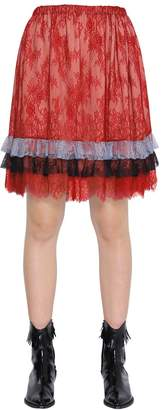 Philosophy di Lorenzo Serafini Ruffled Lace Skirt