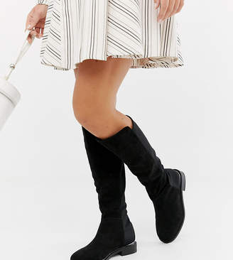 03f506d0c5a Asos Design DESIGN Wide Fit Brandi knee high boots
