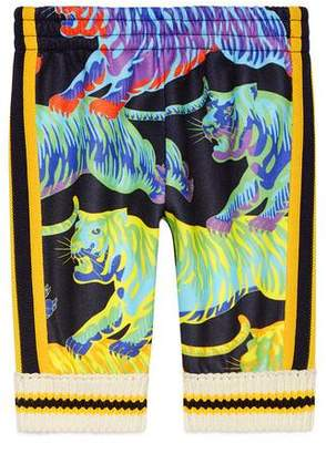 Gucci Baby jogging pant with rainbow tigers