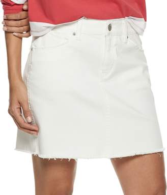 Mudd Juniors' 5-Pocket Frayed Hem Twill Skirt