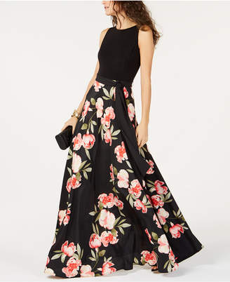 INC International Concepts I.N.C. Floral-Print Belted Gown, Created for Macy's