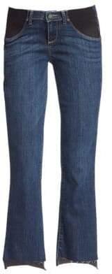Paige Riley Maternity Step Hem Medium Wash Jeans