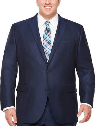 Jf J.Ferrar Stripe Classic Fit Stretch Suit Jacket-Big and Tall