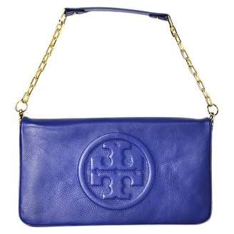 Tory Burch Blue Leather Clutch Bag