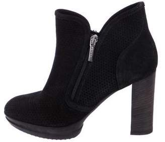 Roberto Botticelli Suede Round-Toe Ankle Boots