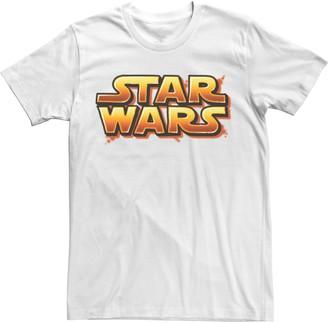 Star Wars Licensed Character Men's Bold Logo Tee