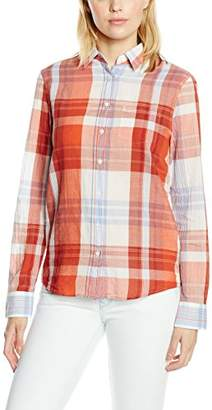 Gant Women's Large Madras Check Shirt Regular Fit Long Sleeve Shirt,(Manufacturer Size:38)