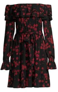 MICHAEL Michael Kors Rose Off-The-Shoulder Dress