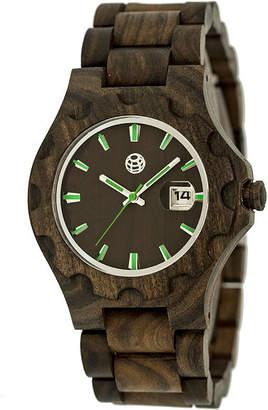 Earth Wood Gila Dark Brown Bracelet Watch with Date ETHEW3302