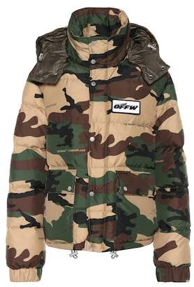 Camouflage down jacket