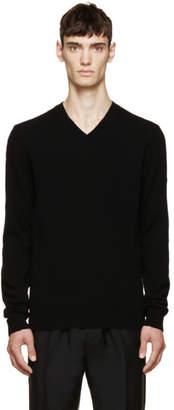 Comme des Garcons (コム デ ギャルソン) - Comme des Garçons Play ブラック ウール V ネック ロゴ セーター